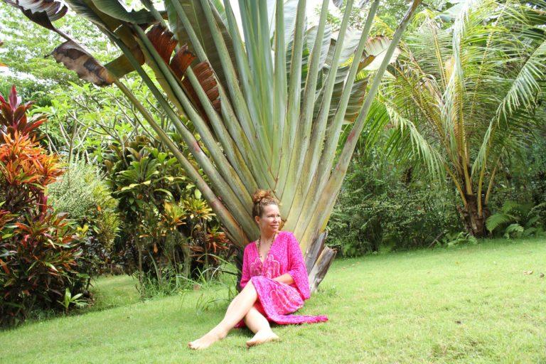 Zhena in Garden, Resting